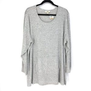 Style & Co Sz 3X Pullover Sweater Light Gray